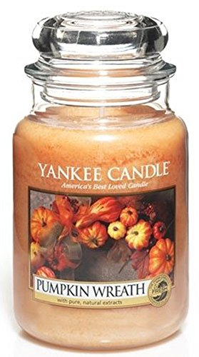 Yankee Candle Pumpkin Wreath Large Jar Candle, Fresh Scent (Best Fall Yankee Candle Scents)