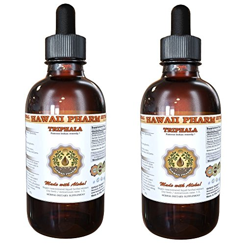 Triphala Liquid Extract, Organic Triphala Blend Tincture Supplement 2x4 oz by HawaiiPharm