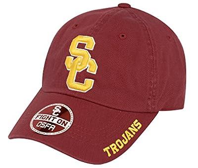 NCAA USC Trojans-Cotton Crew-Adult Adjustable Strapback-Hat Cap-Cardinal-SC by 289c apparel