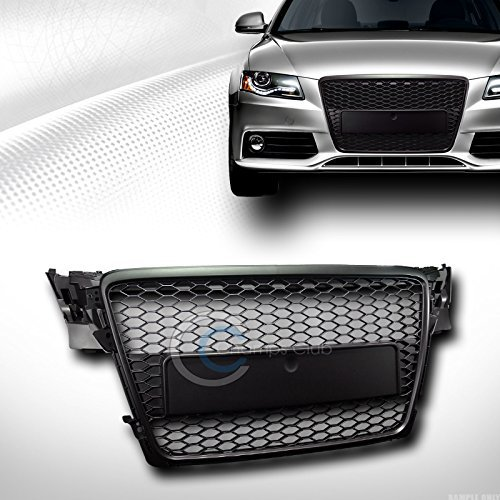 VXMOTOR for 2009-2012 Audi A4 B8 Black Honeycomb MESH Front Hood Bumper Grill Grille Guard - Audi Grille