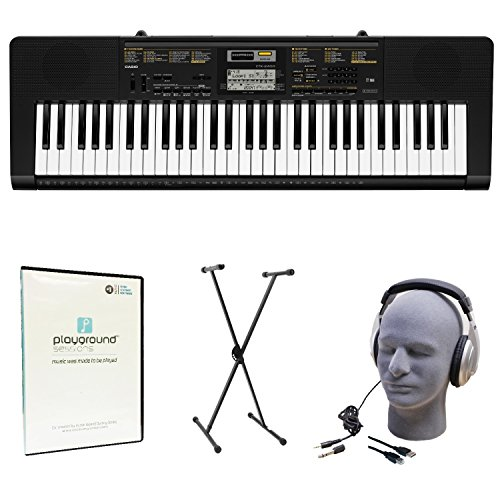 Casio CTK-2400 Learn-To-Play Quincy Jones Keyboard Bundle with Playground Sessions by Casio