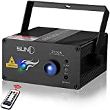 SUNY Laser Lights Music Laser Projector 12 Gobos Effect Green Blue Laser Blue LED Projector Remote Control Sound Activated Stage Light Dance DJ Disco Show Home Decorative Xmas Holiday Birthday Party For Sale