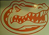 Florida Gator Heads Cornhole Decals - 2 Orange Vinyl Cornhole Decals