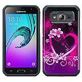 Galaxy J3 Case, Galaxy Sky, Galaxy Express Prime, Galaxy Sol, Galaxy Amp Prime [Shock/Impact Resistant] Hybrid Dual Layer Defender Protective Case Cover for Samsung Galaxy J3 /J3 V, Hot Pink Sensation