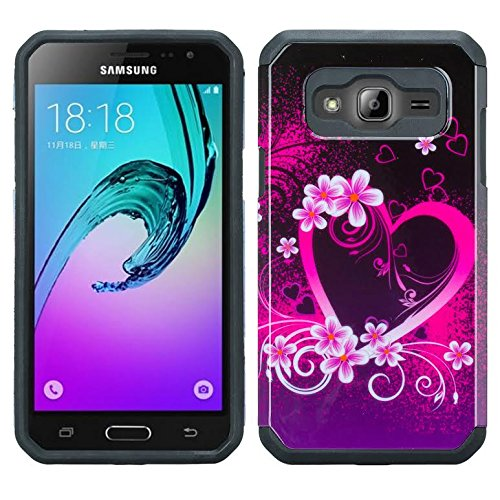 best sneakers c8917 ed091 For Galaxy J3 Case, Galaxy Sky Case, J36v Galaxy Express Prime,Galaxy Sol,  Galaxy Amp Prime Impact Resistant Hybrid Dual Layer Defender Protective ...