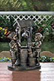 Garden Relaxation Outdoor Fountain Children Statues Sculptures Water Pump Pond Feng Sui Decorative Ornament