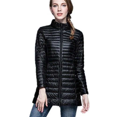 Légère Slim Parka Femme Noir Doudoune Mi Montant Long Eastway Manteau Ultra Col Chaud Hiver qpB6nwvI
