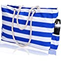 KUAK Extra Large Canvas Beach Tote with 100% Waterproof