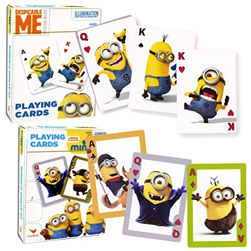 Card Games for Kids Standard Size Playing Cards - Minions 2 Pack (Minion Play Card)