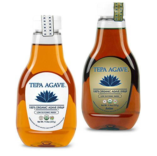 100% Agave Tequila (Tepa Agave 100% Pure Organic Blue Agave Syrup - Light and Amber Flavor -11.9oz)