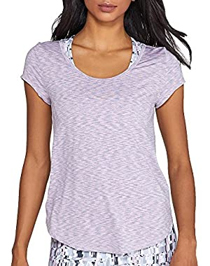 Calvin Klein Performance Women's 2-Color Spacedye Open Strappy Back Shortsleeve Tee