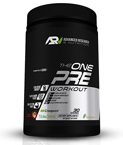 ARN The ONE Pre Workout Supplement – Citrulline + Creapure + BioPerine + Teacrine – Boost Endurance, Energy, Focus and Transparency (No Proprietary Blends) 480g – 30 Servings – (Fruit Punch)