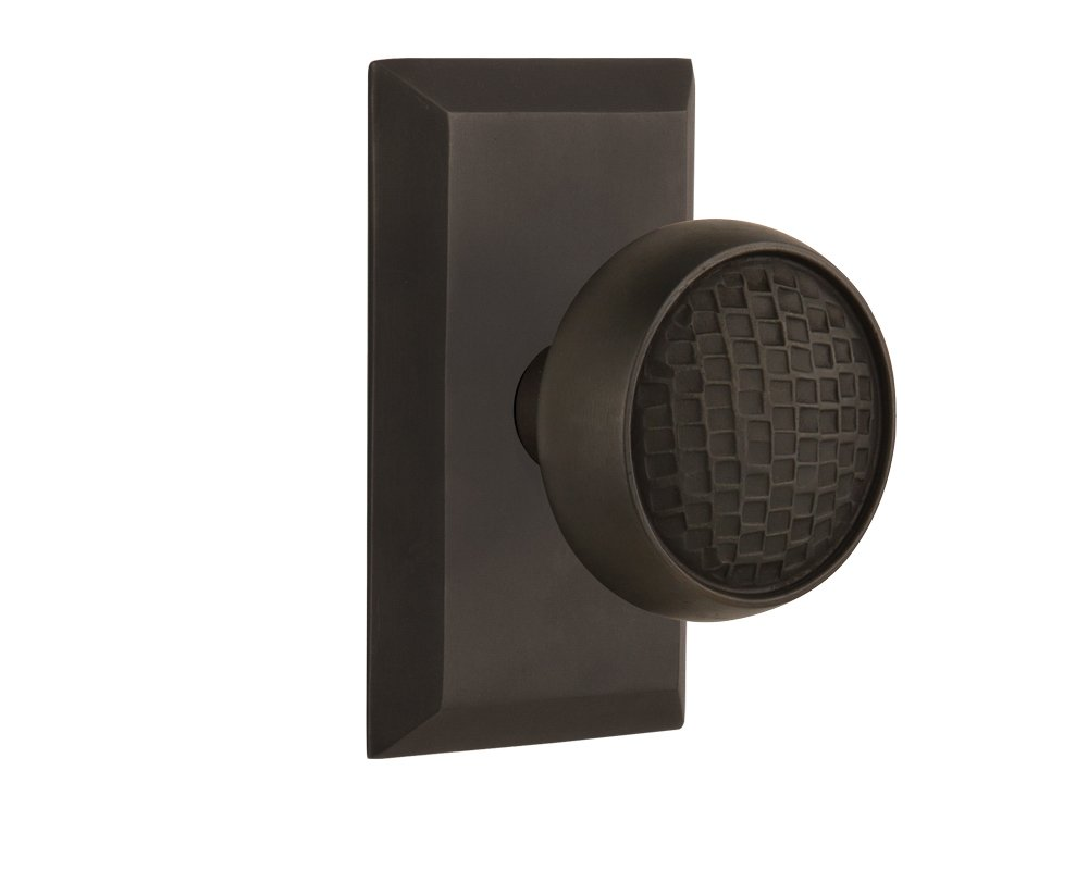 Passage 2.75 Nostalgic Warehouse Studio Plate with Craftsman Knob Oil-Rubbed Bronze