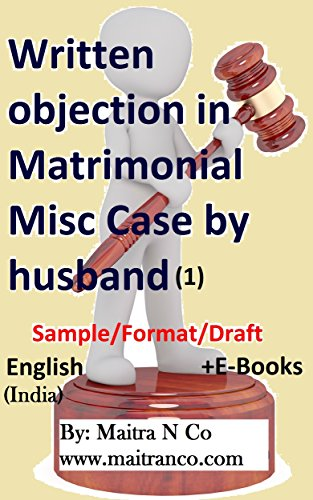 Amazon Com Written Objection In Matrimonial Misc Case By