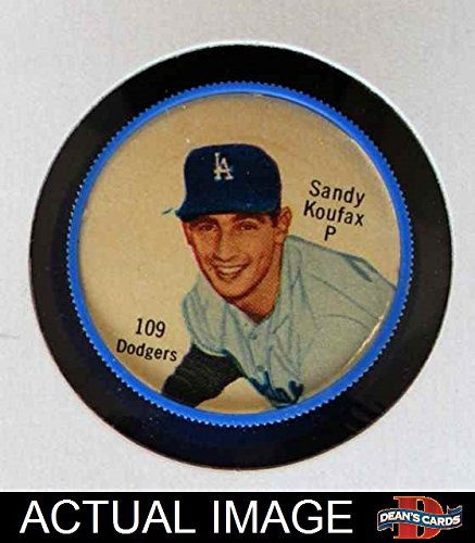 1962 Salada Coins # 109 Sandy Koufax Los Angeles Dodgers (Baseball Card) (Salada Baseball Coins)