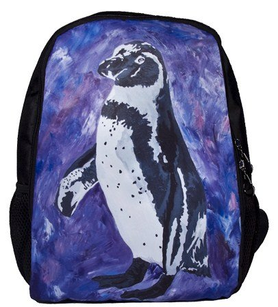 Penguin Backpack, Penguin Book Bag - From My Original Painting, Southern Sweetheart
