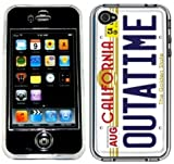 Outatime License Plate Back To The Future Handmade iPhone 4 4S Full Hard Plastic Case