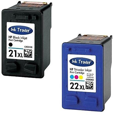 Remanufacturado HP 21 X L y 22 x l cartuchos de tinta para uso con ...