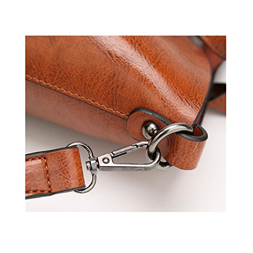 Into PU Tote Shoulder Bags Women Brown Simple Leather Fashion Bags Messenger Handbags 7BIzx7r