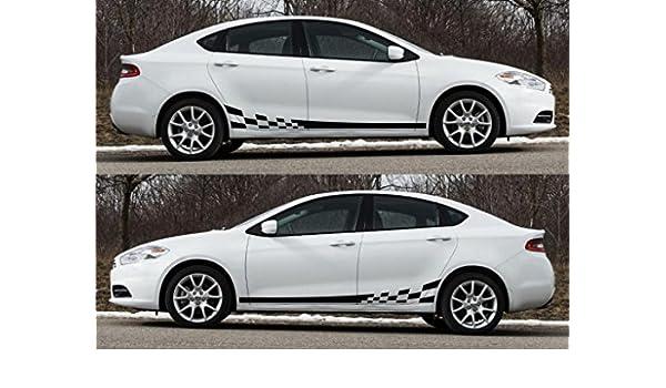Amazon.com: Dodge dart sxt 2.0L tigershark multiair turbo racing stripes kit sticker race drift: Automotive