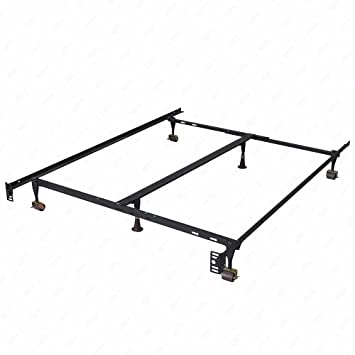 adjustable queen full twin size w center support platform metal bed frame - Twin Size Metal Bed Frame