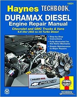 duramax diesel engine repair manual: chrevrolet and gmc trucks & vans 6 6  liter (402 cu in) turbo diesel paperback – oct 15 2013