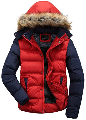 Wantdo Men's Casual Fur Hooded Outwear Jacket