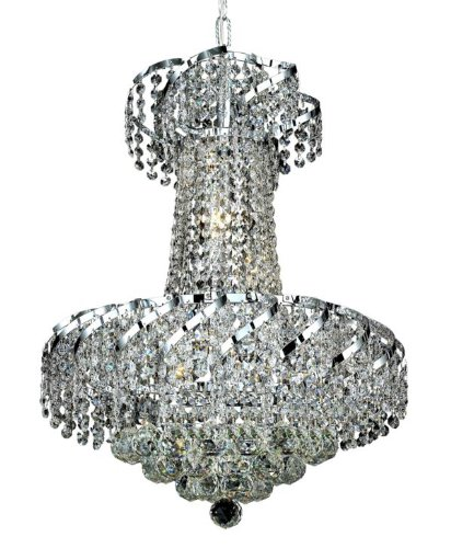 Elegant Lighting ECA1D18C/RC Belenus 22-Inch High 6-Light Chandelier, Chrome Finish with Crystal (Clear) Royal Cut RC Crystal from Elegant Lighting