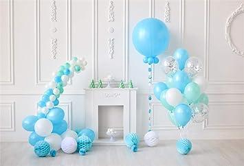 Cassisy 1,5x1m Vinilo 1er cumpleaños Telon de Fondo Bebé Decoracion Vintage Globos Azules Linterna Artesanal Fondos para Fotografia Party bebé ...