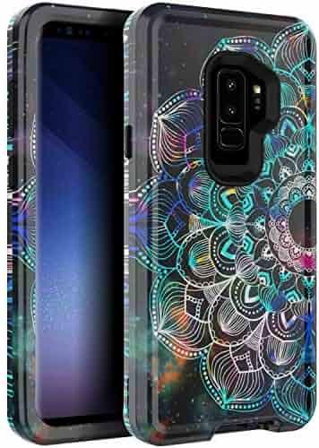 b9ed2db7d4 BAISRKE Case for Galaxy S9 Plus, Heavy Duty Hybrid 3-Layer Full-Body