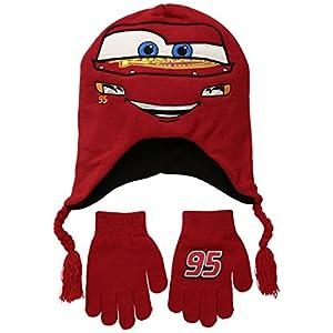 Disney Boys' Little Lightning McQueen Winter Beanie & Glove Set