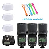 3X Godox TT600 High Speed Sync 2.4G Wireless Camera Flash Speedlite +Godox X1T-C Remote Trigger Transmitter for Canon+3xDiffuer + HuiHuang USB LED free gift