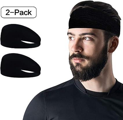 Men Elastic Bandana Headband Long Hair Head Wrap Running Cycling Sport Turban AC