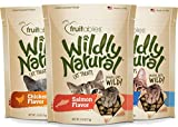 Fruitables Variety 3 Pack of Wildly Natural Cat Treats 2.5 Ounces each. 7.5 Ounces Total