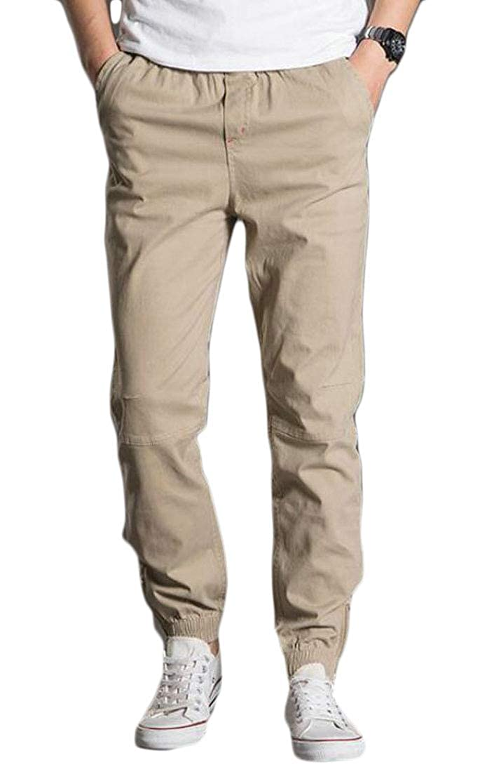 Joe Wenko Mens Harem Sports Outdoor Jogging Big and Tall Cargo Trousers Pants