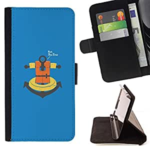 Momo Phone Case / Flip Funda de Cuero Case Cover - No esta vez ancla;;;;;;;; - Samsung Galaxy Note 4 IV