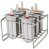 Chasgo Stainless Steel Popsicle Mold BPA Free Breastmilk Ice Pop Mold Lolly Popsicle Maker Mold