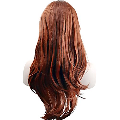 AKStore Fashion Wigs 28 70cm Long Wavy Curly Hair Heat Resistant Wig Cosplay Wig For Women With Free Wig Cap
