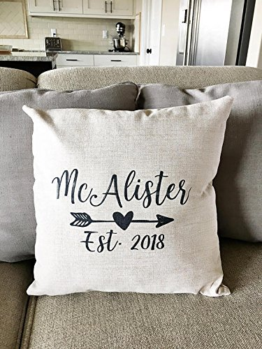 100% spun polyester poplin fabric Individually Monogram Pillow Cover - Personalized Name Throw Pillow Cover - House Decor - House Pillow Covers - Rustic Pillow - Rustic Decor