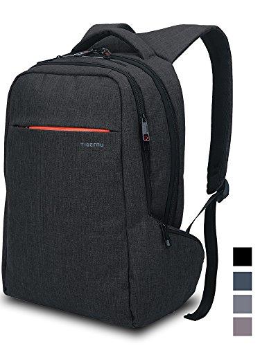 Norsens Leichtgewichtiger Rucksack mit Fächern für bis zu 15,6-Zoll-Laptops/Notebook,Business Rucksack Schwarz
