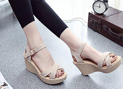 Sandalias las sandalias mujeres gruesa KUKI las de 2 de de suela dxYaYn