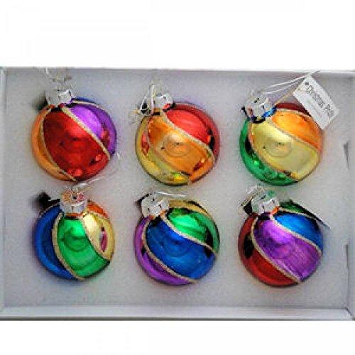 (Gay Rainbow Sisters Christmas Pride Rainbow Beach Ball Ornaments)