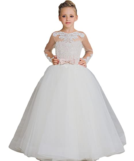 d3c6ecb92e70 Buy Newdeve Ball Gown Flower Girls Dresses Baby Birthday Gown with ...
