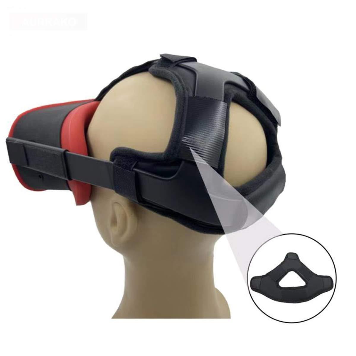 Aurrako Head Strap Headband for Oculus Quest Virtual Reality VR Headset Accessories, Comfortable PU Leather & Reduce Head Pressure (Black) 51tQj7W2JmL