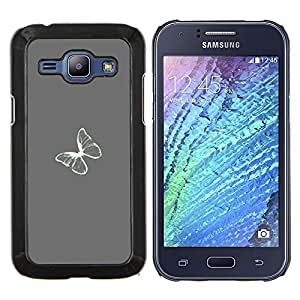 Stuss Case / Funda Carcasa protectora - Gris Gris Minimalista Blanca - Samsung Galaxy J1 J100