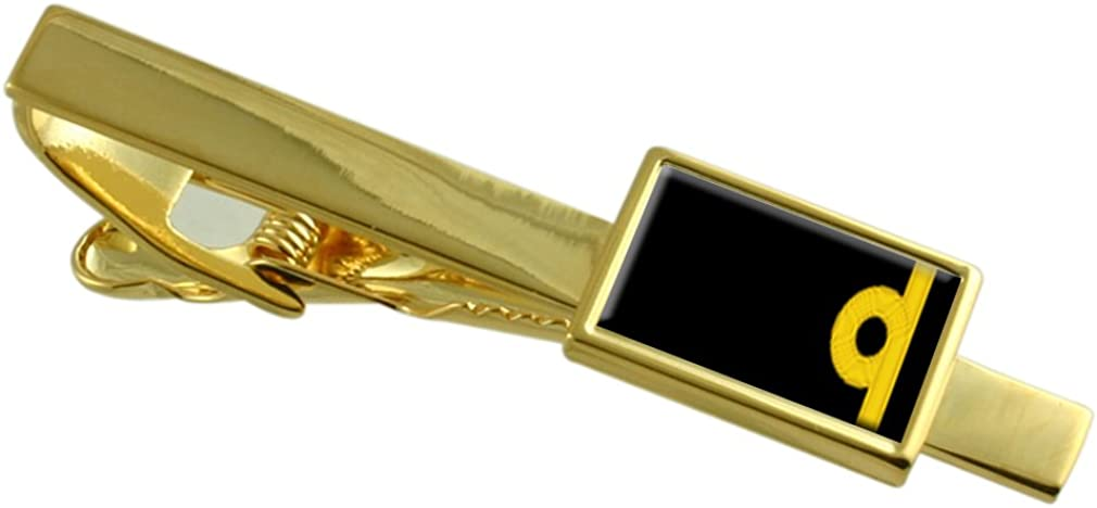 Select Gifts Royal Navy Insignia Rank Sub Lieutenant Gold-Tone Tie Clip Pouch