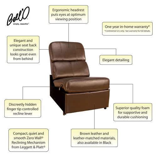 Astounding Bello Hts103Bn No Arm Reclining Chair Brown Caraccident5 Cool Chair Designs And Ideas Caraccident5Info