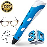 Manve Intelligent 3D Printing Pen, 3D Drawing Model Making Doodle Arts & Crafts Drawing, Stimulate childrens' creativity,  improve spatial thinking ability.(Send ABS Fibrous Material)