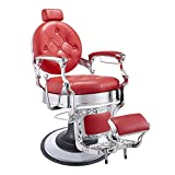 DIR BARBER CHAIR HYDRAULIC BARBERSHOP CHAIR VANQUISH - RED