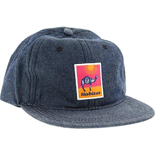 Habitat Skateboards Gobi Patch Blue Denim Strapback Hat - Adjustable